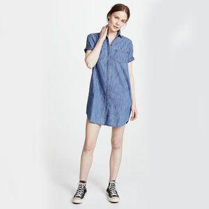 Madewell Chambray Courier Shirtdress Size L